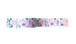 Wowgoods Masking tape Blooming garden blue