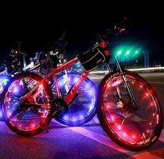 Fietswielverlichting LED rood (voor 1 fietswiel)