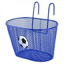 Kinderfietsmand blauw voetbal