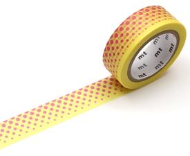 MT Masking tape pop dot yellow