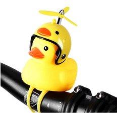 Badeend met helm fietslamp/toeter (met propeller)