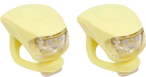 Urban Proof siliconen LED fietslampjes pastel geel (leverbaar vanaf 24-08-2021)
