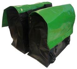 Fietstassen extra sterk groen/zwart