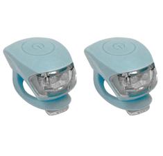 Urban Proof siliconen LED fietslampjes ice blauw