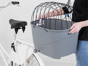 Hondenfietsmand voor Ebike en gewone fiets (grijs)