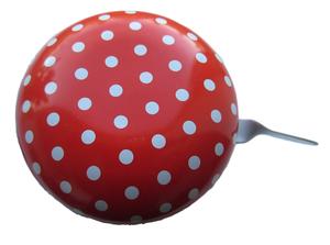 Fietsbel dingdong XL stippen rood