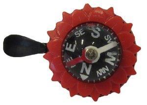 Fietsbel kompas met wijzer (rood)
