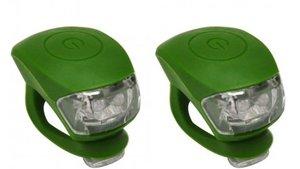 Urban Proof siliconen LED fietslampjes legergroen