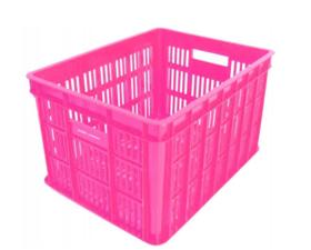 Fietskrat roze (medium)