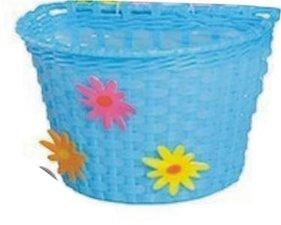 Kinderfietsmandje bloemen blauw