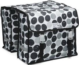 Fietstassen New Looxs dubbel Dots zwart/grijs