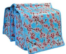 Fietstas Kitsch Kitchen stijl bloesem blauw
