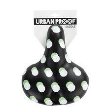 Fietszadel Urban Proof zwart met stippen