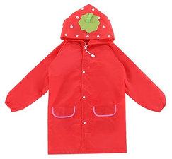 Regenjas kind aardbei rood