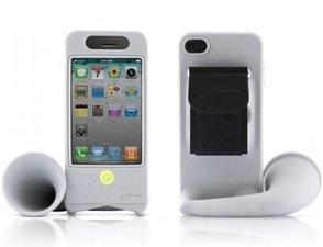 iPhone 4 fietshoorn grijs