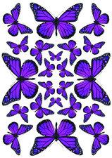 Fietsstickers vlinders paars