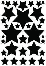 Fietsstickers sterren zwart