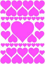 Fietsstickers hartjes roze