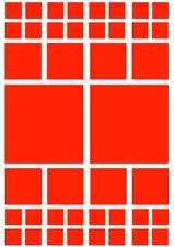 Fietsstickers vierkanten oranje