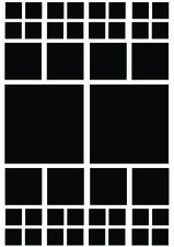 Fietsstickers vierkanten zwart mat