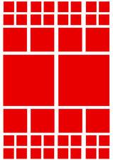 Fietsstickers vierkanten rood