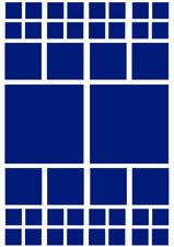 Fietsstickers vierkanten blauw mat