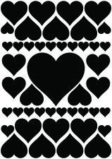 Fietsstickers hartjes zwart