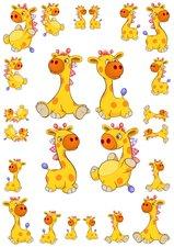 Fietsstickers giraffen