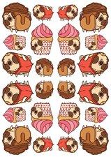 Fietsstickers cupcake hondje