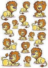 Fietsstickers stoere leeuwen