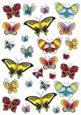 Fietsstickers grote en kleine vlinders