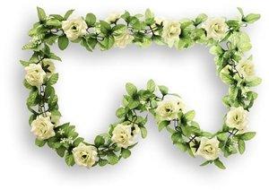 Basil bloemenslinger rozen wit