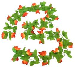 Bloemenslinger fietsslinger bloemen rood/geel