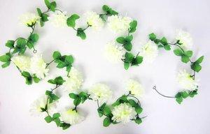 Bloemenslinger fietsslinger grote bloemen wit