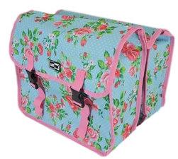 Fietstassen Lastpak bloemmotief roze