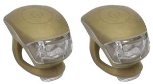 Urban Proof siliconen LED fietslampjes goud bruin