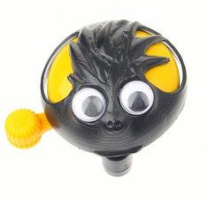 Fietsbel met ogen zwart/geel