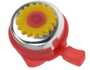 Fietsbel bloempot (rood/geel)