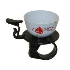 Fietsbel koffie kopje wit