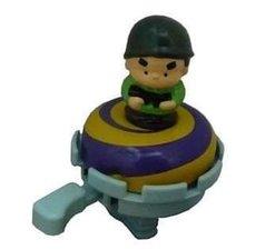 Fietsbel militair groene helm