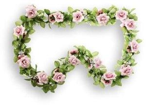 Basil bloemenslinger rozen roze