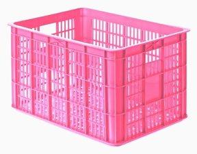 Fietskrat roze (groot)
