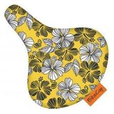 Zadelhoesje Bikecap tropical geel