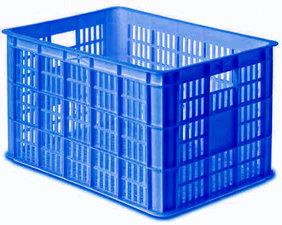 Fietskrat blauw (groot)