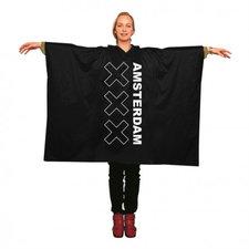 Regenponcho zwart Amsterdam