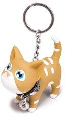 Sleutelhanger kat bruin