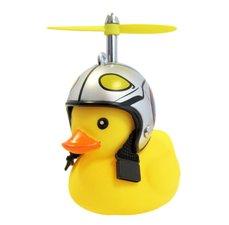 Bad eend piloot met helm fietslamp/toeter (met propeller)