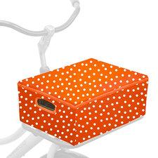 Fietskrat + hoes combi oranje met witte stip