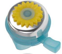 Fietsbel bloempot (lichtblauw/geel)
