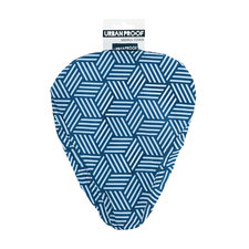 Zadelhoesje Urban Proof geometrisch blauw